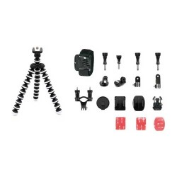 FOXSHOT - FOXSHOT FC-01 Mini Aksiyon Kamera Aksesuar Kit